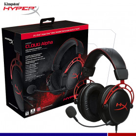 AURICULAR GAMING HYPERX CLOUD ALPHA ROJO