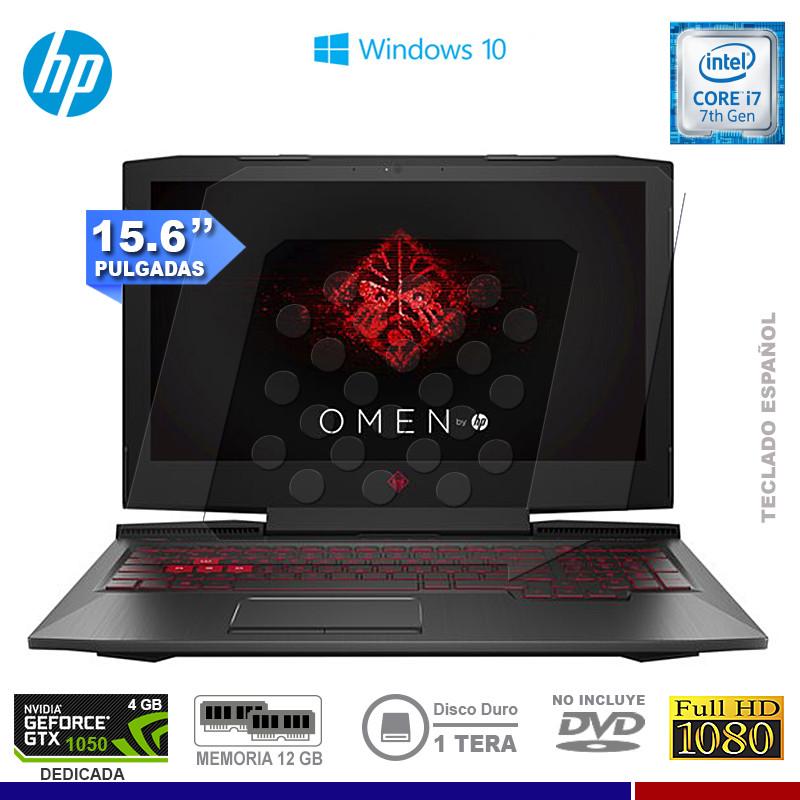 "NOTEBOOK HP HOMEN 15-CE002LA INTEL CORE I7 7700HQ 12GB 1TB VIDEO 4GB NVIDIA 1050 15.6"" FREE DOS"