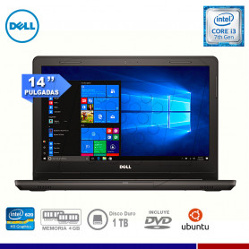"NOTEBOOK DELL INSPIRON 14-3467 CORE I3 7130U 4GB 1TB 14"" FREE DOS"