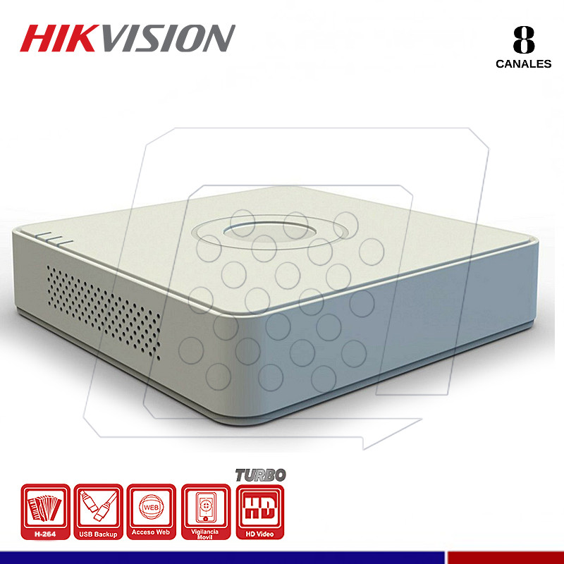 DVR HIKVISION DS-7108HGHI-F1 8 CANALES