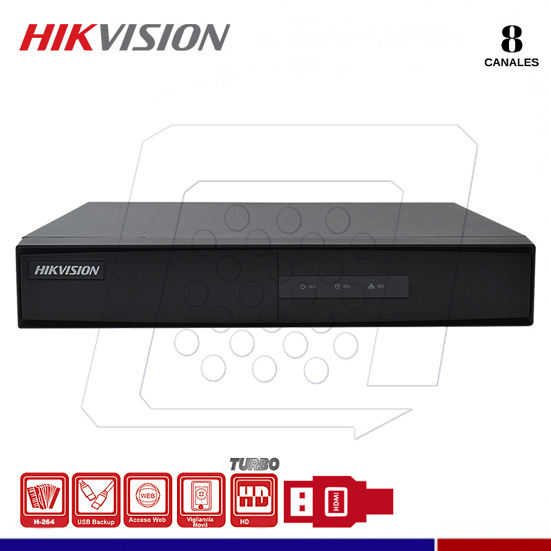 DVR HIKVISION DS-7208HGHI-F1 8 CANALES