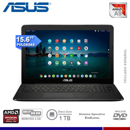 "LAPTOP ASUS X555BP-XX180, AMD A-9420, 4GB, 1TB, VIDEO 2GB, 15.6"", DVD, FREE DOS."