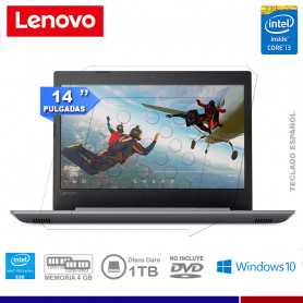 "NOTEBOOK LENOVO IDEAPAD 320 INTE CORE I3 6006U 4GB 1TB 14"" WINDOWS 10"