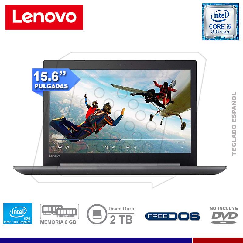 "NOTEBOOK LENOVO IDEAPAD 320-15IKB INTEL CORE I5 8250U 8GB 2TB 15.5"" FREE DOS"