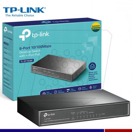 SWITCH TP-LINK TL-SF1008P 8 PUERTOS 4 PUERTOS POE