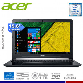 "NOTEBOOK ACER ASPIRE A515-51-55HD INTEL CORE I5 8250U 4GB 1TB 15.6"" FREE DOS"