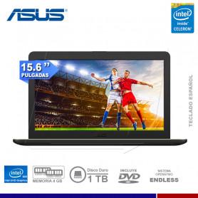 "NOTEBOOK ASUS VIVOBOOK X540MA-GQ019 INTEL CELERON 4GB 1TB 15.6"" DVD FREE DOS"
