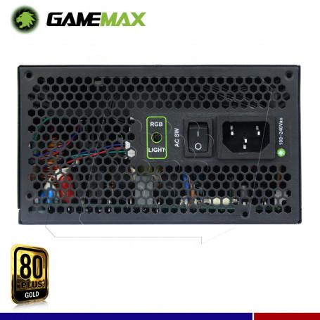 FUENTE GAMEMAX 850W RGB GOLD MODULAR