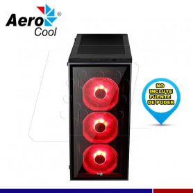 CASE QUARTZ RED VIDRIO TEMPLADO AEROCOOL