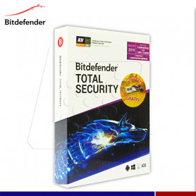 ANTIVIRUS BITDEFENDER TOTAL SECURITY 2019 5PC + 1 ANDROID USB 16GB GRATIS