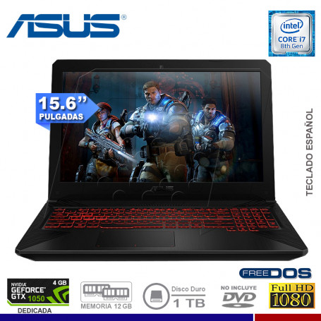 "NOTEBOOK GAMING ASUS TUF FX504GD-DM331 INTEL CORE I7 8750HQ 1TB 12G 1TB VIDEO 4GB 1050 NVIDIA 15.6"" FREE DOS"