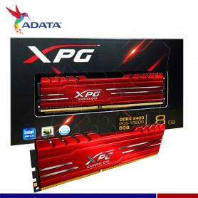 MEM. RAM A-DATA XPG GAMMIX ROJA 4GB DDR4 2400 MHZ.