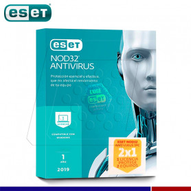 SOFTWARE ANTIVIRUS ESET NOD32 2019 PROMO 2 X 1