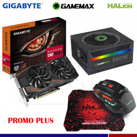 PromoPlus RADEON RX 570 4GB + FUENTE GAMEMAX 550 W + MOUSE GAMER HA-915