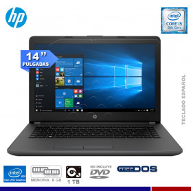 "NOTEBOOK HP 240G6 INTEL CORE I5 8250U, 8GB RAM, 1TB HD, 14"", FREE DOS."