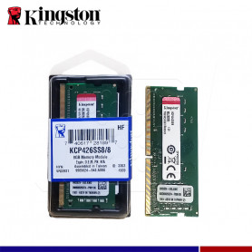 MEM. RAM SODIMM KINGSTON 8GB DDR4 2666 MHZ