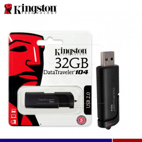 Memoria Flash USB Kingston DataTraveler DT104, 32GB, USB 2.0 (DT104/32GB)