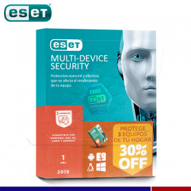 SOFTWARE ANTIVIRUS ESET NOD32 2019 MULTI DEVICE 3 DISPOSITIVOS