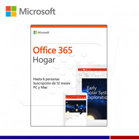 SOFTWARE MICROSOFT OFFICE HOME PREMIUM 5PC 1 AÑO