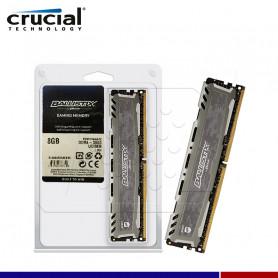 MEM. RAM CRUCIAL BALLISTIX SPORT LT GRAY 8GB DDR4 3000 MHZ