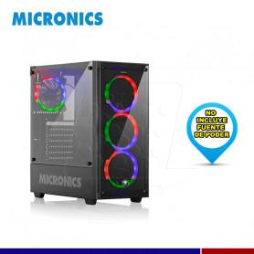 CASE GAMER MICRONICS CRYSTAL + FNT8021