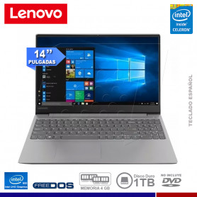 "NOTEBOOK LENOVO IDEAPAD 330-14IGM INTEL CELERON 4GB 1TB 14"" FREE DOS"