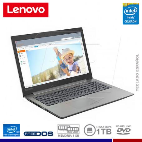 "NOTEBOOK LENOVO IDEAPAD 330-14IGM INTEL CELERON 4GB 1TB 14"" FREE DOS"