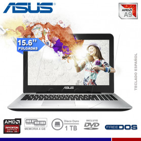 "LAPTOP ASUS X555BP-X0247, AMD A-9420, 4GB, 1TB, VIDEO 2GB, 15.6"", DVD."