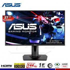 "MONITOR GAMING ASUS VG278Q 27"", 1ms, 144hz FreeSync, COMPATIBLE G-Sync."