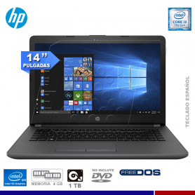 "NOTEBOOK HP 240G6 INTEL CORE I3 7020U, 4GB RAM, 1TB HD, 14"" FREE DOS."