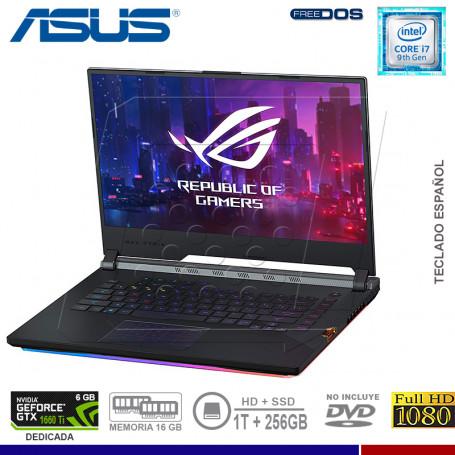 "LAPTOP ASUS ROG STRIX G531GU-ES215, I7 9750H, 1TB + SSD 256, 16GB, 15.6"", GTX 1660TI 6GB."