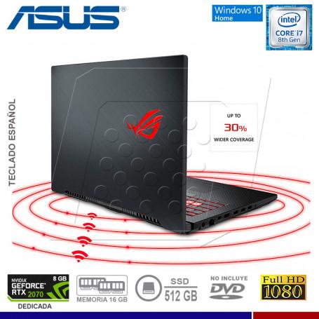 """LAPTOP ASUS ROG STRIX GL704G-EV057T, I7 8750H, SSD 512, 16GB, 17.3"""", RTX 2070 8GB, WINDOWS 10."""