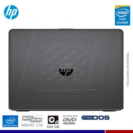 """NOTEBOOK HP 240 G6, INTEL CELERON N3350, 4GB RAM, HD 500GB, 14"""", FREE DOS."""