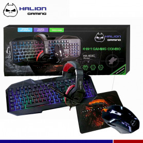 COMBO GAMER HALION 4 EN 1 HUNTER HA-403C