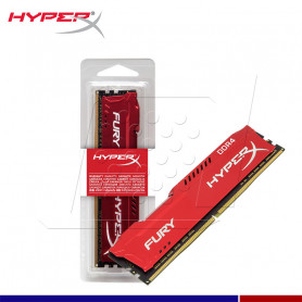 MEM. RAM HYPERX FURY RED 8GB DDR4 2666 M