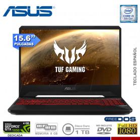 "LAPTOP ASUS TUF GAMING FX505GD-BQ034, I5-8300H, 1TB, 8GB, NVIDIA GTX-1050 4GB, 15.6""."