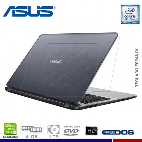 "LAPTOP ASUS VIVOBOOK X507UB-BR267, I5 8250U, 1TB, 4GB, NVIDIA MX110 2GB, 15.6"", FREE."