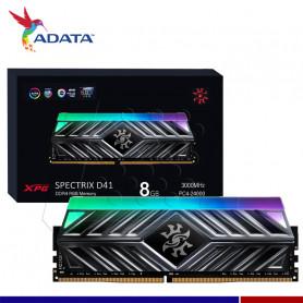 MEM. RAM A-DATA SPECTRIX D41 RGB 8GB DDR4 3000 MHZ.