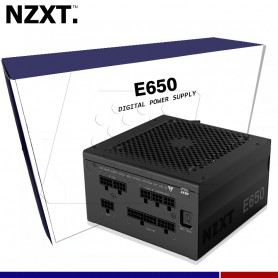 FUENTE NZXT E650, DIGITAL 650W FULL MODULAR 80 PLUS GOLD.