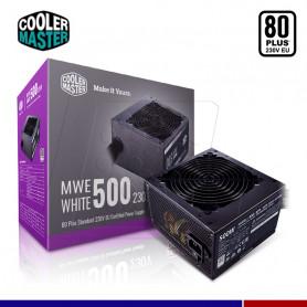FUENTE COOLER MASTER MWE 500W 80 PLUS WHITE