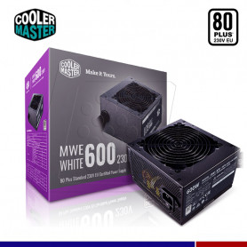 FUENTE COOLER MASTER MWE 600W 80 PLUS WHITE