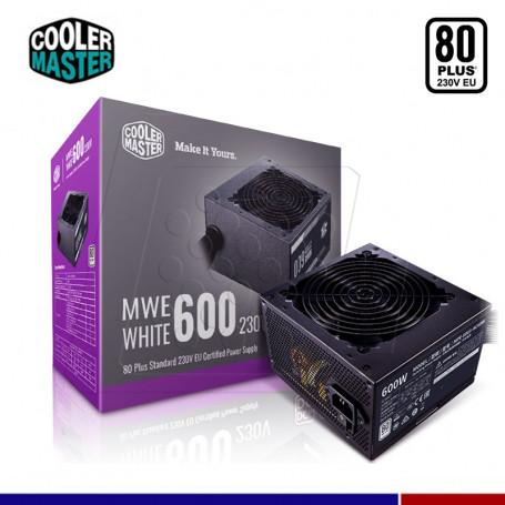 FUENTE COOLER MASTER MWE 600W 80 PLUS WHITE