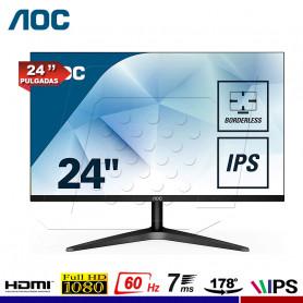 "MONITOR AOC 24B1XHS 24"" IPS VGA/HDMI"