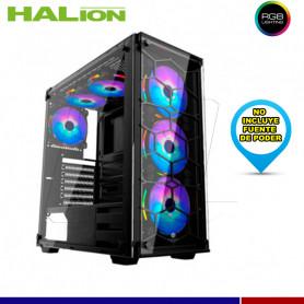 CASE GAMER HALION SPIDER C907 RGB VIDRRIO TEMPLADO
