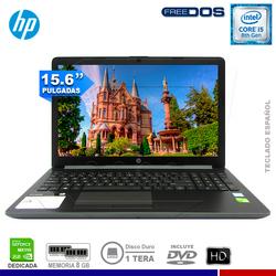 "LAPTOP HP 15-DA0029LA, INTEL CORE I5 8250U, 8GB, 1TB, 2GB NVIDIA, 15.6"" HD, FREE DOS."