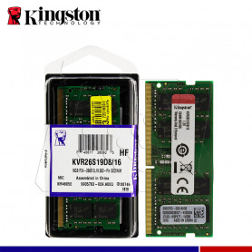 MEM. RAM KINGSTON SODIMM 16GB DDR4 2666 MHZ.