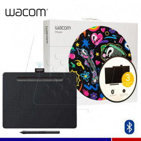TABLETA GRAFICA WACOM INTUOS PEN BLUETOOTH M BLACK.