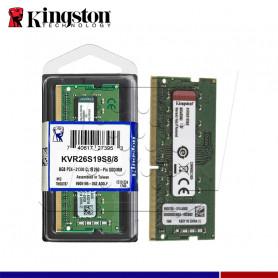 MEM. RAM KINGSTON SODIMM 8GB DDR4 2666 MHZ.