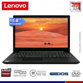 """LAPTOP LENOVO V145-15AST, AMD A6 9225 2.6 Ghz, 4GB RAM DDR4, 500GB, 15.6"""" HD, FREE DOS."""