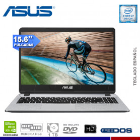 "LAPTOP ASUS X507UF-EJ402, CORE I7-8550U, 8GB, 1TB, 15.6"" FHD, NVIDIA GFORCE 2GB, FREE."